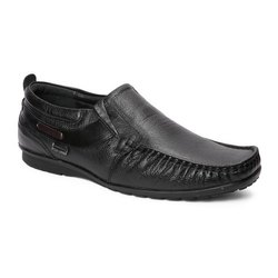 Red Chief Mens Black Slip On Formal Shoes