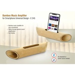 E245 - Bamboo Music Amplifier For Smartphones Universal Design