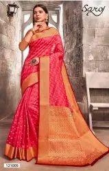Pink Raier Silk Designer Saree