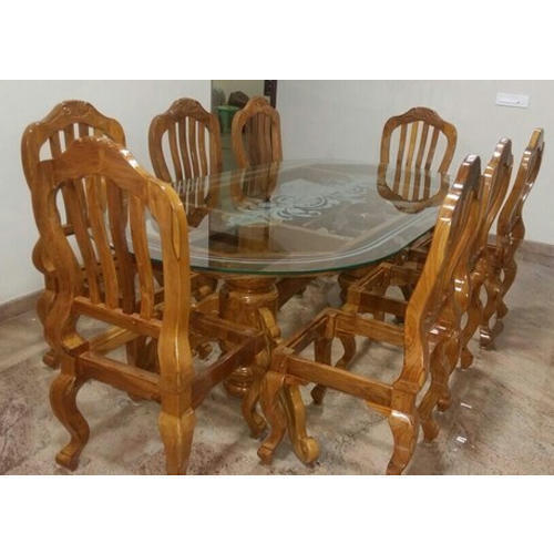 Wooden Dining Table Set: Brown Designer Wooden Dining Table Set, Rs 60000 /set