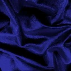 Blue Cotton Viscose Velvet Fabric