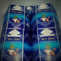 White Chocolate Covered Dates With Almonds, Packaging Type: Box