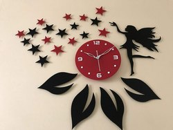 STAR CROWD Antique collection Acrylic wall clock for Home and Office