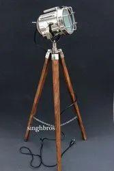 SinghBros Mart Chrome Vintage Floor Spotlight for Home