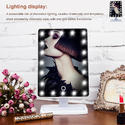 Touch Screen LED Vanity Professional Makeup Mirror With 16/22 LED Beauty Lights Adjustable Health Wo