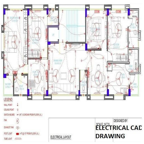 Electrical Cad Drawing Service Computer Aided Design Drawing In - Electrical Drawing Using Cad