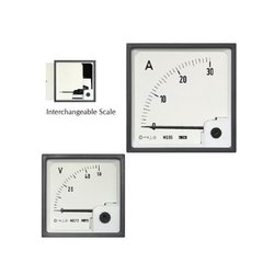 DC Moving Coil Din Panel Ammeter & Voltmeters