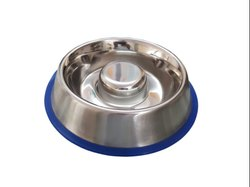 Stainless Steel Slow Feed Dog Bowls