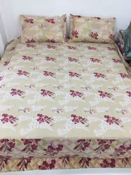 Multicolor 108 Flower Printed King Size Bed Sheets, Size: 108*108