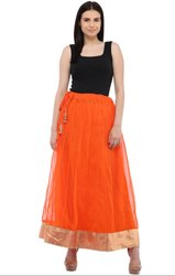 Amazing Orange Readymade Skirt