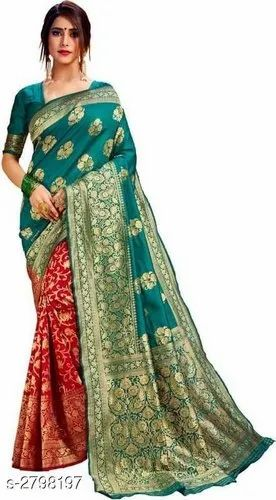 Blue Party Wear Banarasi Silk Sarees