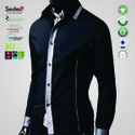 GRS Recycle Cotton Mens Party Wear Shirts