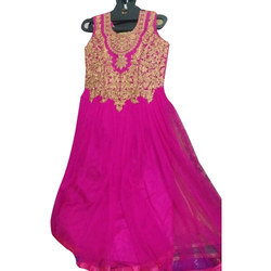 Cotton Anarkali Ladies Suit, Handwash