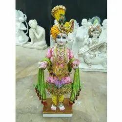 Polished Marble Swami Narayan Statue