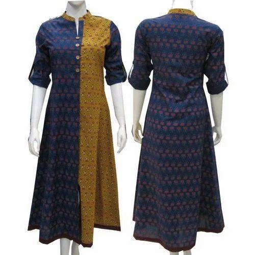 Jaipuri Kurti Bend Collar Neck Jaipuri Kurti Manufacturer From Jaipur