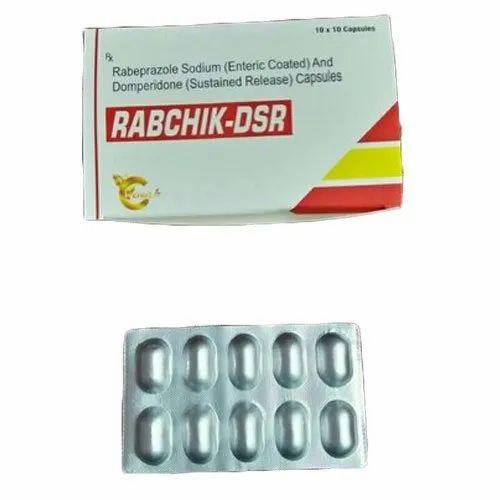 Rabaprazole Capsule, Pack Size :10 x 10 Tablets