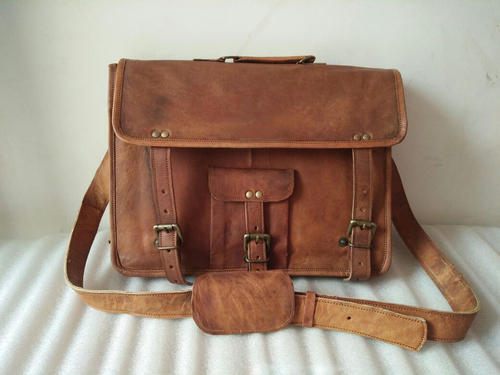 Men S Distressed Leather Messenger Satchel Shoulder Bag
