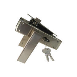 White Metal Pin Cylindrical Mortise Lock, Chrome