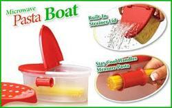 Plastic Red Pasta Making Microwave Container