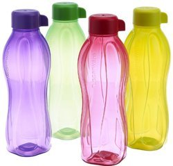 MULTI-COLOR Tupperware Aquasafe Water Bottle Set, Capacity: 1000ML