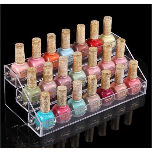 Transparent Acrylic Nail Polish Stand Size 8x6x6 Inch For Nail Polish Advertising Rs 200 Piece Id 20213231955