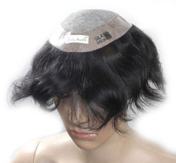 USA Silk Base Hair Patch Men Toupee Wig