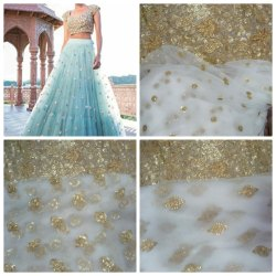 Party Wear Designer Lehenga, Unstitched, Amarr Silk Store
