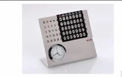 SS Table Calendar with Clock