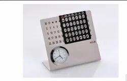 SS Table Calendar with Clock