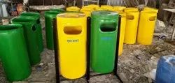 FRP 2 in 1 Cylindrical Dustbin (Code D-12b)