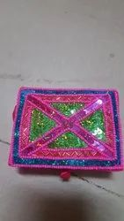 Rectangle Embroidery Jewelry Box, Size/Dimension: 3x4