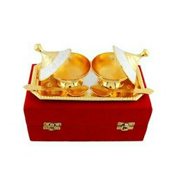 Silver & Gold Plated Brass Mouth Freshener Set 5 Pcs.