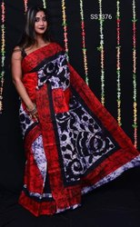 Mom Chitra Batik Prints On Mulmul Cotton Sarees