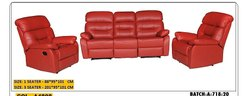 Leather Red Color Sofa Set