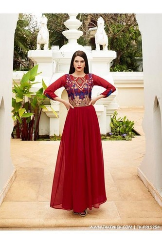 All Sizes Wedding, Party A LINE FLARED INDIAN PROM DRESSES EVENING ...