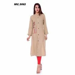 Cotton Casual Wear Ladies Kurti