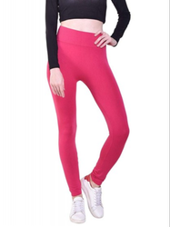 None Straight Fit Womens Imported Plain Leggings, Size: Free Size
