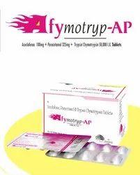 Aceclofenac, Paracetamol ,Trypsin Chymotrysin