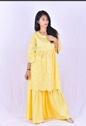 Yellow Designer Garara Suit