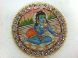 12 Inches Baal Gopal Miniature Painting