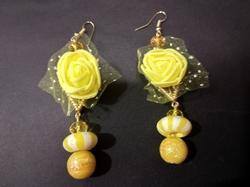 Party Rose Floral Earrings