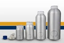 Silver Aluminum Pesticide Bottles, Size: 10mL to 1000mL