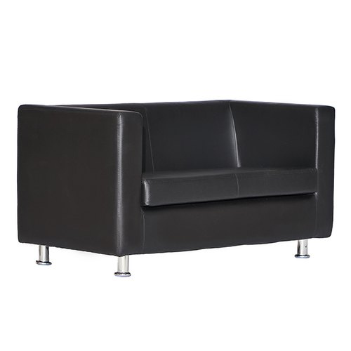Fonzel Black Jasper Two Seater Leather Sofa