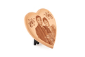 1089SM Heart Wooden Plaque