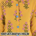 Yellow Rayon Floral Kurta