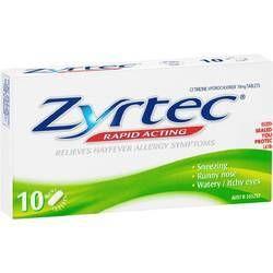 Cetirizine Hydrochloride 10mg Tablets