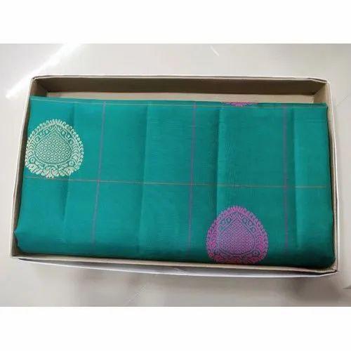 Wedding Wear Printed Banarasi Tussar Silk Saree, 6.3 m (with blouse piece), Packaging Type: Box