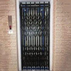 Black Mild Steel Collapsible Gates