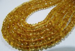 Citrine Gemstone Faceted Rondelle Strands