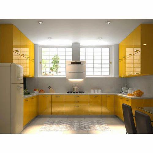 Modern Brown U Shape Modular Kitchen Rs 2500 Running Feet Sutar